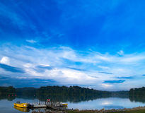 Cold Morning. A cold morning over a reservoir Royalty Free Stock Photos