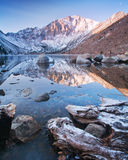 Cold Morning at Convict Lake Stock Image