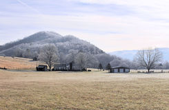 Cold morning in the smoky mountain foothills Royalty Free Stock Images