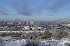 Cold Moscow winter Royalty Free Stock Image