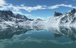 Cold Mountain Sea Stock Photos