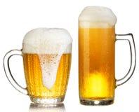 Cold mug of beer Royalty Free Stock Photos
