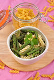 cold noodle salat with green vegetable Stock Image