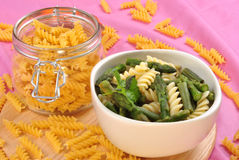 cold noodle salat with green vegetable Royalty Free Stock Photography