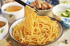 Cold noodles. Taiwan's famous food-Cold noodles stock photo