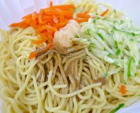 Cold noodles closeup Royalty Free Stock Image
