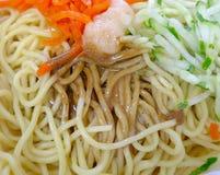 Cold noodles closeup. At convenience store royalty free stock photos