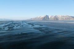 Cold northern sea. Sea of Okhotsk, gulf of Sheltinga, the Magadan coast Stock Image