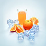 Cold orange juice Royalty Free Stock Images