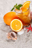 Cold orange tea Stock Photography
