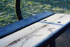 Cold park bench Royalty Free Stock Photos