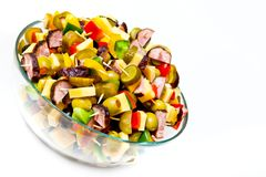 Cold party snack in a bowl Royalty Free Stock Photography