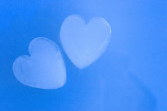 Cold passion - ice hearts Royalty Free Stock Photography