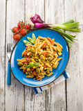 Cold pasta salad with pachino Royalty Free Stock Photos