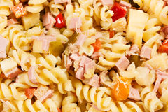 Cold pasta salad. On the table Stock Images
