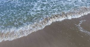 Cold pattern of the Black Sea waves in Bulgaria. Pomorie - famous resort town in Bulgaria. In summer it is a popular tourist destination, mainly from Russia stock footage