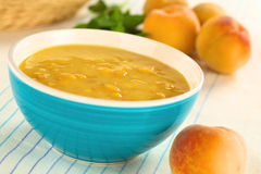 Cold Peach Soup Royalty Free Stock Image