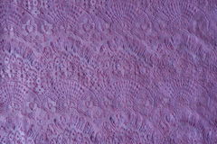 Cold pink guipure lace fabric Royalty Free Stock Images