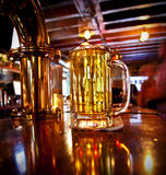 Cold pint of beer on a bar Royalty Free Stock Image