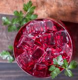Cold pomegranate juice Royalty Free Stock Image