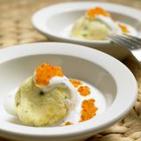 Cold potato dumplings Royalty Free Stock Image