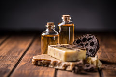 Cold pressed handmade soap Royalty Free Stock Photo