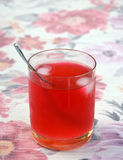 Cold pure strawberry juice Stock Photography