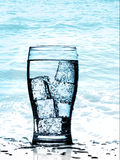 Cold purified water Stock Images