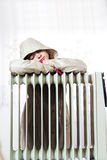 Cold Radiator Royalty Free Stock Image