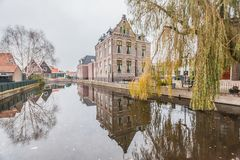 Cold raining wet winter in Volendam, Holland. Holiday in Holland - Cold raining wet winter in Volendam stock images