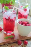 Cold rasberries drink Royalty Free Stock Photography