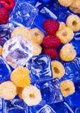 Cold Raspberries Stock Photo
