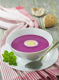 Cold  red beet soup Royalty Free Stock Image