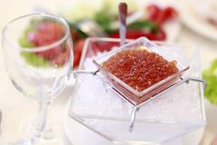 Cold red caviar Royalty Free Stock Image