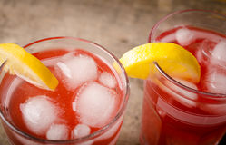 Cold red ice tea Royalty Free Stock Photo