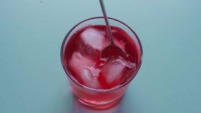Cold Red juice stock video footage