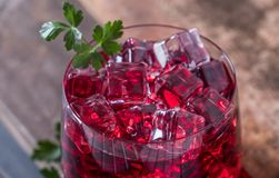 Cold Red Pomegranate Juice Royalty Free Stock Photos
