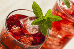 Cold Refreshing Berry Hibiscus Ice Tea royalty free stock photos
