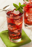 Cold Refreshing Berry Hibiscus Ice Tea Stock Photos