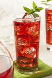 Cold Refreshing Berry Hibiscus Ice Tea. Cold Refreshing Berry Hibiscus Iced Tea with Mint Royalty Free Stock Photos