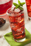 Cold Refreshing Berry Hibiscus Ice Tea Stock Images