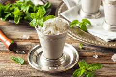 Cold Refreshing Classic Mint Julep Stock Image