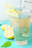 Cold refreshing drink from tasty lemons Royalty Free Stock Image