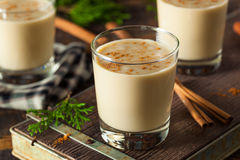Cold Refreshing Eggnog Drink Royalty Free Stock Image