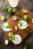Cold Refreshing Iced Limeade Stock Photos