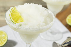 Cold Refreshing Lime Frozen Margarita Stock Image
