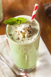 Cold Refreshing Mint Chocolate Chip MilkShake Stock Photos