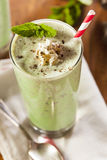 Cold Refreshing Mint Chocolate Chip MilkShake Stock Image