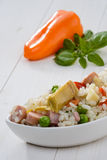 Cold rice and orange pepper Royalty Free Stock Photo