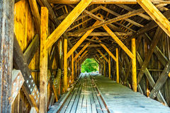 Cold River Bridge. The Cold River Bridge, also known as McDermott Bridge, is a historic wooden covered bridge over the Cold River in Langdon, New Hampshire. 81 Royalty Free Stock Image